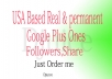 I will provide 500+ USA Based Real & permanent Google Plus Ones