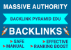 RANK FIRST ON GOOGLE WITH MASSIVE AUTHORITY EDU BACKLINKS PYRAMID
