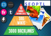 I will do seo pyramid 10 imagesharing sites, 200 high pr wiki 3000 backlinks