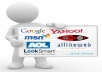 Submit your website to DMOZ and 50 Search Engine