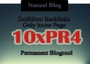 I will give your link on 10xPR4 blogroll permanent dofollow quality