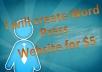 I will create WordPress Website for