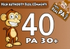 "Do 40 ""PA 30 to 70"" Dofollow Blog Comment, 100 Percent Actual High PA Pages"