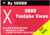 Start Instant 3000 Youtube Views fastly