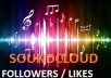 Gain 10000+ Soundcloud follower /likes at cheapest rate