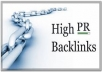 create 30 high PR backlinks on our private blog network, professional seo....