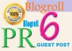 Give Blogroll Link at 2xPR6 General Niche Site