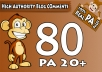 """Do 80 """"PA 20 to 70"""" Dofollow Blog Comment, 100 Percent Actual High PA Pages"""