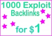 Give you 1000 HQ PR Exploit backlinks​