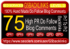 build Manually 75 PR2 To PR7 blog comments high pr BACKLINKS