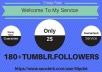 Add You Fast 180+ USA Base Tumblr Followers