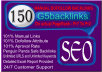 I will do 150 MANUAL Dofollow Backlinks on PR7 to PR2
