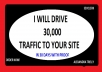 I will send 30000 KEYWORD LOW BOUNCE RATE traffic to your website for 30 days 1000 per dayWith Proof