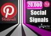 20,000 PR9 Pinterest Permanent Social Signals Share Bookmarks Important Google Ranking Factors