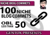 Do 100 Niche related links on less than 40 OBLs pages