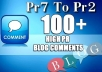 100 SEO Blog Commenting Backlinks Pr2 to Pr6 for AduIt Websites