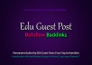 Write & Publish 3X EDU Guest Posts From Top Level Universities