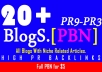 [PBN] Create 20+ Blog Network with niche related articles and Indexing