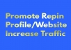 I will serve you 220 Repin  for your profile/website.