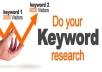 Keyword Research: I can give best keywords for ur website