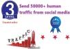 Send 50000+ Human Traffic by Google Yahoo etc