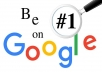 Instant rank on google first page within 24 - 72 hours