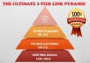I will create 3 Tier Ultimate Link Pyramid to Boost your Serp Rankings