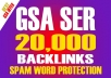 20,000 High Quality Backlinks SEO Friendly with Spam-Word Protection