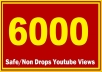 6000 HQ Safe YOUTUBE Views Super Fast delivery