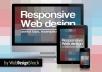 Html responsive Website Design using bootstrap