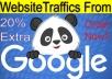 10,000+ Keyword Targeted GOOGLE traffic Real humans - USA Visitors + MORE