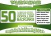 I will make 50 Unique High Pr Dofollow Low OBL Backlinks
