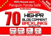 I will do manually create Panda safe real high Authority Pr 4to7 backlinks
