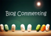 I will do 30 blogcomment high pr 3 to 7 dofollow