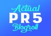 Actual 2X PR5 Permanent Blogroll or Contextual Backlink