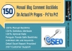 do 150 MANUAL Dofollow Backlinks on PR7 to PR2