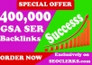 400,000 Authority Quality GSA SER Verified Backlinks for SEO Ranking