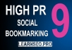 I Will Do 12 Social Bookmark DA 80+ High Quality Backlinks