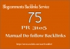 I will do manually 75 Backlinks Blog comments on PR3 to PR5