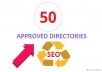 I will do 50 approved effective directory submission backlinks