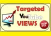 Added 1000 Targeted Country youtube video boosting  Choose Your Country