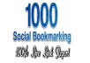 1000 Social Bookmarks Submit Even Youtube Video Best Bookmarking