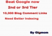 12,000 Multi Platform Super Backlinks to get Better INDEX