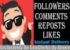 Start Instant Music Followers Or Likes Or Reposls Or Comments