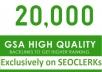 20,000 GSA SER SEO Backlinks