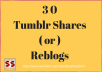 Get You 30 Tumblr Shares  or  Reblogs For Your Url