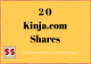 Get You 20 Kinja.com Social Shares For Your URL