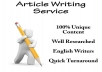 Professional 500 Word Article Writing