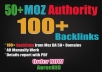 100 Dofollow Backlinks from Moz DA 50+ Domains