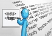 SEO Optimized Title-Meta Tag Creation For Your Website Pages
